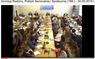 Seminarium Komisji Rodziny, Polityki Senioralnej i Społecznej